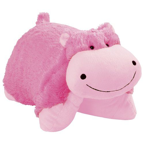 I'm thinking, this neon pink hippo Pillow Pet would be the perfect tummy pillow after my surgery... :)