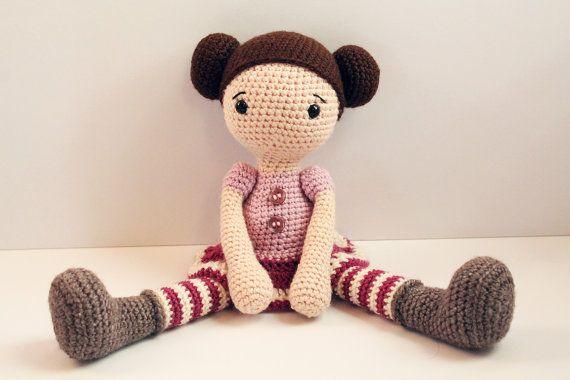Modello: Bambola Doll - bambola di pezza cartamodello - bambola Amigurumi - uncinetto - - giocattolo - bambino doccia