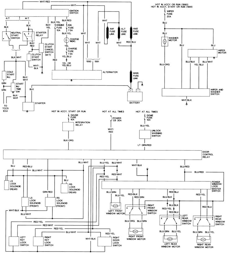 1990 toyota hilux wiring diagram  1