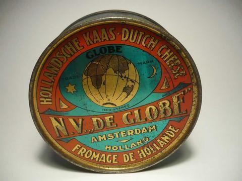 "Kaasblik N.V. ""De Globe"" = In my Collection  For Sale !!!!"