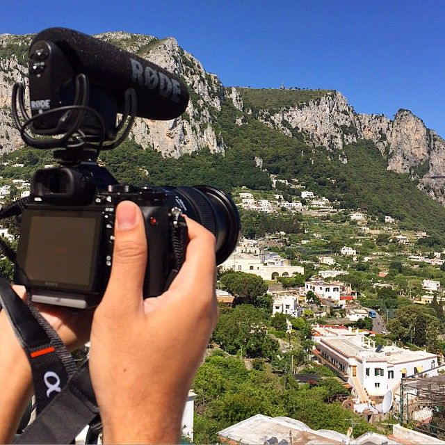 Roaming around Capri, Italy with @sony A7s and the new @rodemic VideoMic Pro with Rycote Onboard via @mayadacademy on Instagram