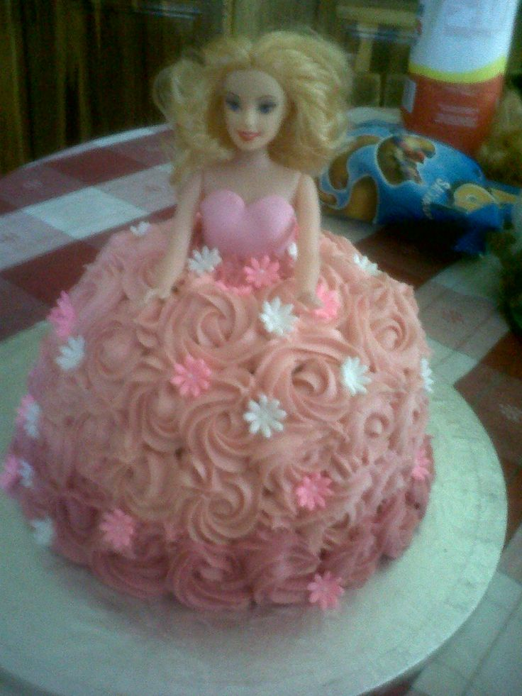 Doll Cake Rose Butter Icing Dress