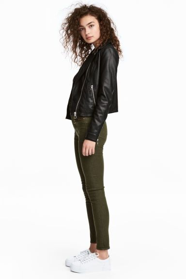 Pantalon stretch - Vert kaki foncé - FEMME | H&M FR