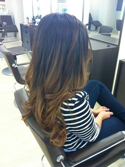 Ombre' on the ends with long streaks of accent highlights that reach higher really enhances this gorgeous sustainable look.