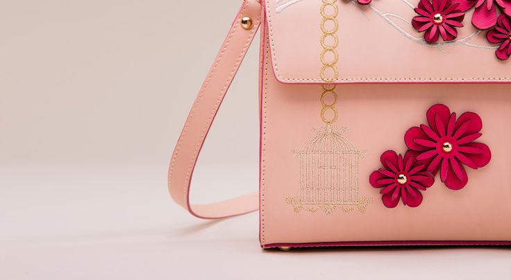 Azalee bag - embellishment and embroidery details