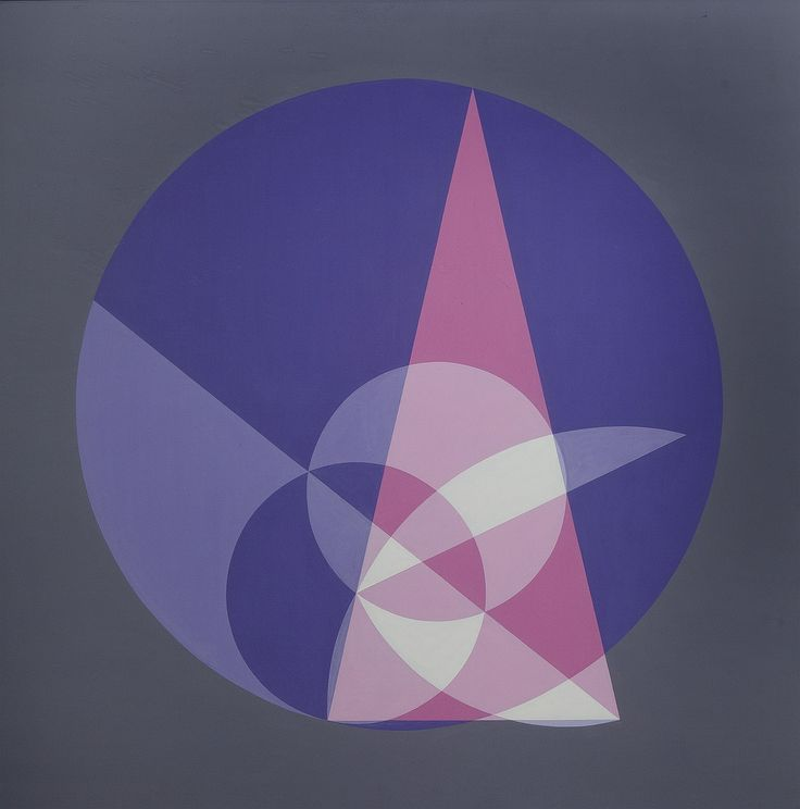 """Children's author and painter of mathematical theories Crockett Johnson, created this """"Construction of Heptagon"""" in 1973."""
