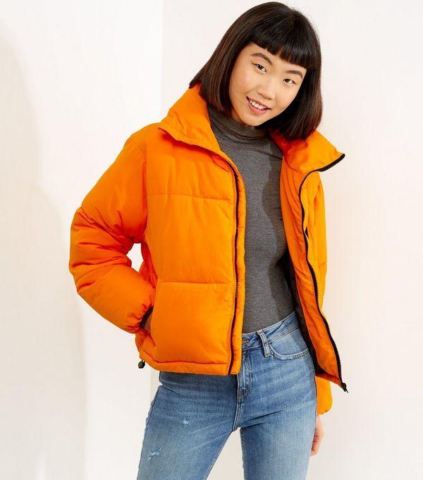 Orange Puffer Jacket  | New Look