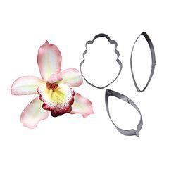 quatro c cortador flor da orquídea pétala, ferramentas de decoração do bolo, ferramentas de cozimento fondant cortador de molde queque