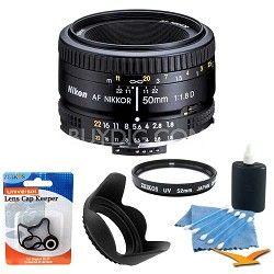 Nikon 50mm F/1.8 D AF FS-52 Lens w/ Filter, Lens Hood