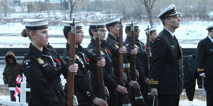 Cadets aged 12-18 participate in citizenship activities such as this Remembrance Day commemoration. To find out how to join us, visit www.rcscccalgary.ca