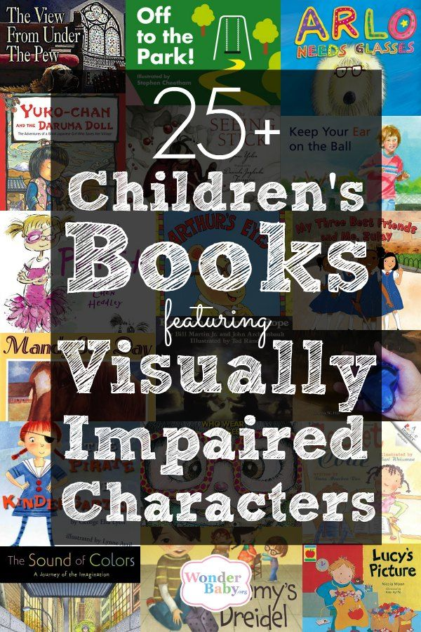 We've collected 26 picture books, chapter books and young adult novels with visually impaired characters. Each title is followed by a quick description and links to find the book in the US, the UK and in audio or braille format.