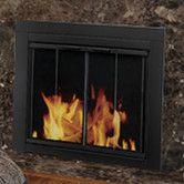 Found it at Wayfair - Ascot Fireplace Screen and Bi-Fold Track-Free Glass Door. $259