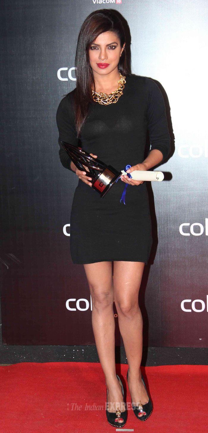 Priyanka Chopra on the red carpet Colors International Advertising Associations (IAA) Awards. #Style #Bollywood #Fashion #Beauty