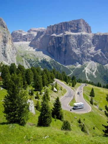Sella Pass, Trento and Bolzano Provinces, Italian Dolomites, Italy