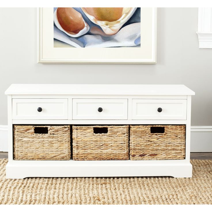 Cape Cod 3 Drawer Cream Storage Unit Features A Contemporary Style And Functional Design