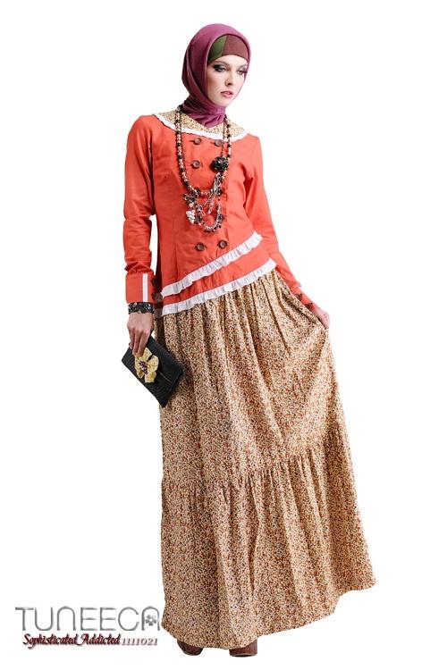 Gamis Assymetric Hip Wrinkled Skirt