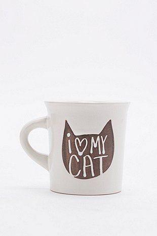 I Love My Cat Mug - Urban Outfitters