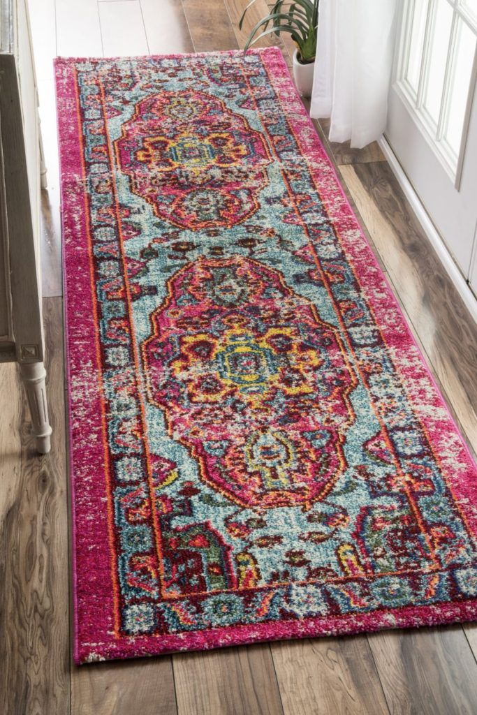 Magenta And Teal Overdyed Runner From Amazon So Fabulous
