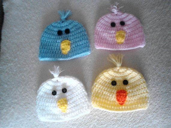 Check out this item in my Etsy shop https://www.etsy.com/uk/listing/221023629/easter-chick-hat-crochet-easter-hat