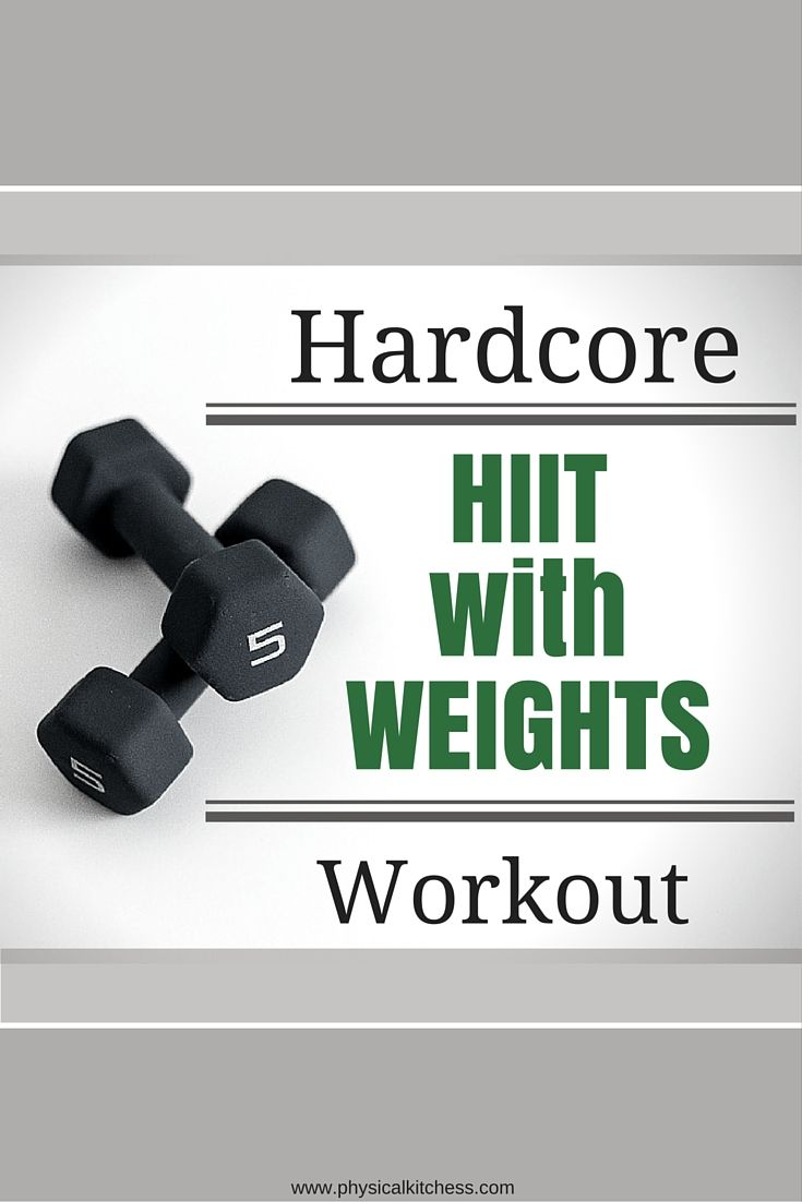 Amp your HIIT workout, adding weights. An amazing 25 minute workout you can do at home!