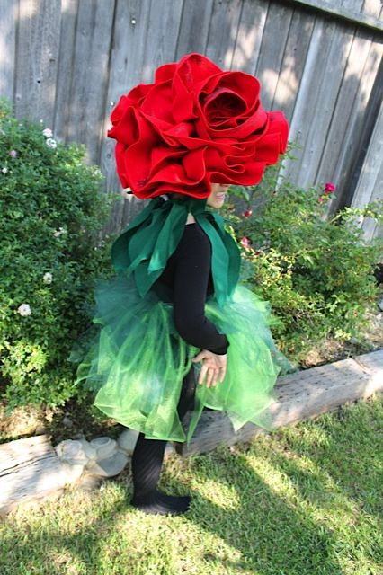 """Pinner's daughter in home made """"Rose"""" costume for her role in Beauty and the Beast #inspiration"""