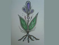 Métis Artwork by Jaime Koebel; I really like this one--of course anything with roots; metis art work