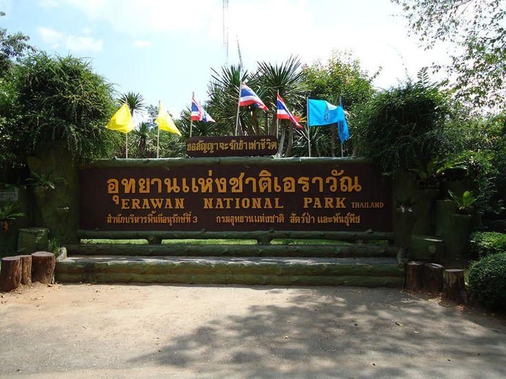 Eingang des Erawan Nationalparks.