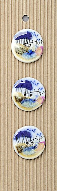 3 Country Scene Buttons, Handmade, Fully Washable, Incomparable Buttons, ButtonMad by IncomparableButtons on Etsy