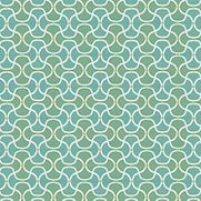 Scallop in Turquoise by Bella Dura - Love the geometric fabric Scallop in Turquoise from Bella Dura!