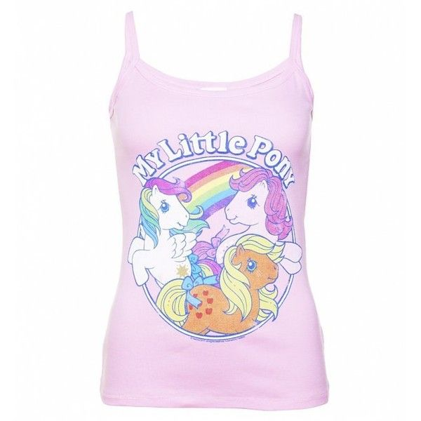 Women's Classic My Little Pony Light Pink Strappy Vest ($27) ❤ liked on Polyvore featuring outerwear, vests, vest waistcoat, pink vest, my little pony, strap vest and light pink vest