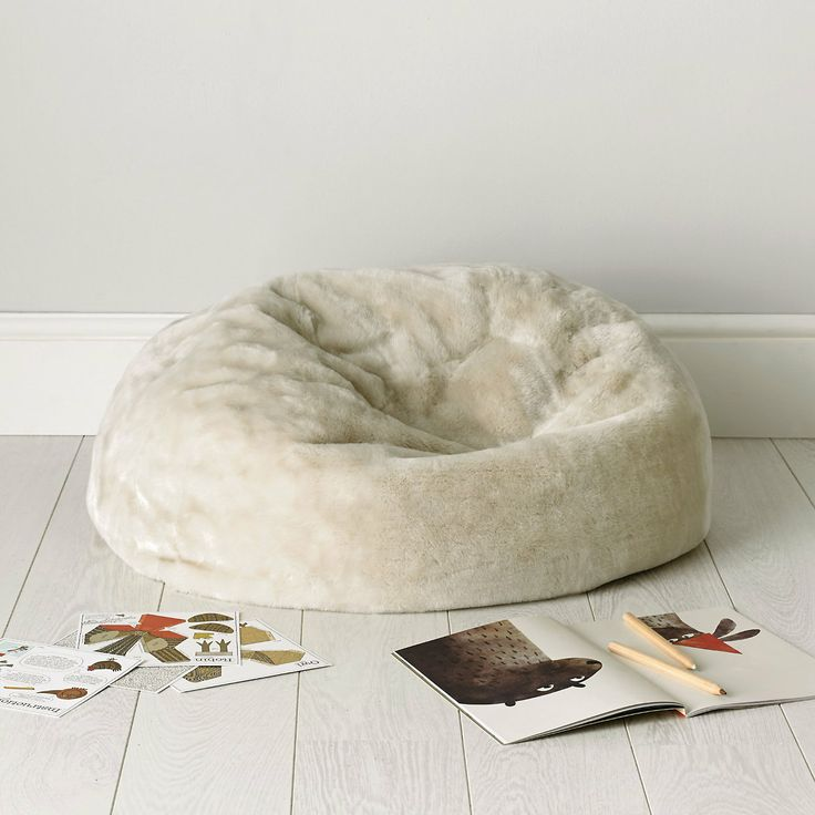 Buy Childrens Bedroom Accessories Faux Fur Beanbag
