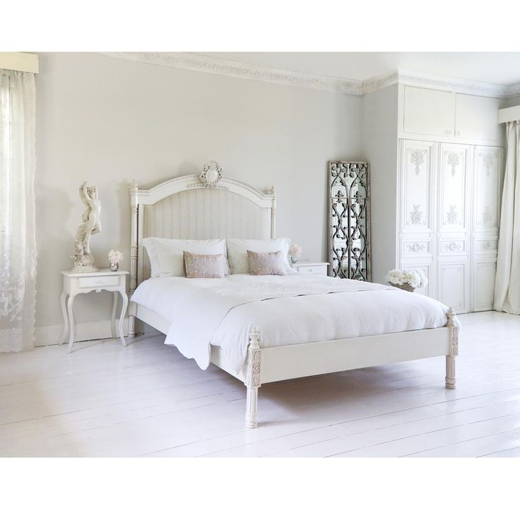 Provencal Column Upholstered Bed  King Size  by The French Bedroom Company180 best Our French Bedroom Collections images on Pinterest  . French Bedrooms Images. Home Design Ideas