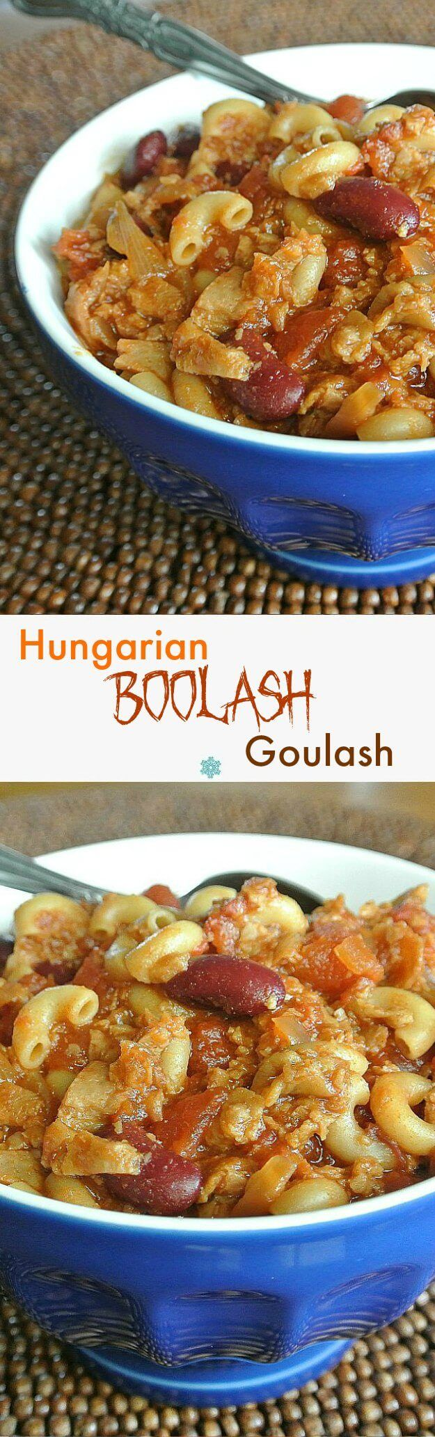 Hungarian Boolash Goulash would be great for this Halloween? It tastes just as delicious as the original downhome version but there is more fun involved.