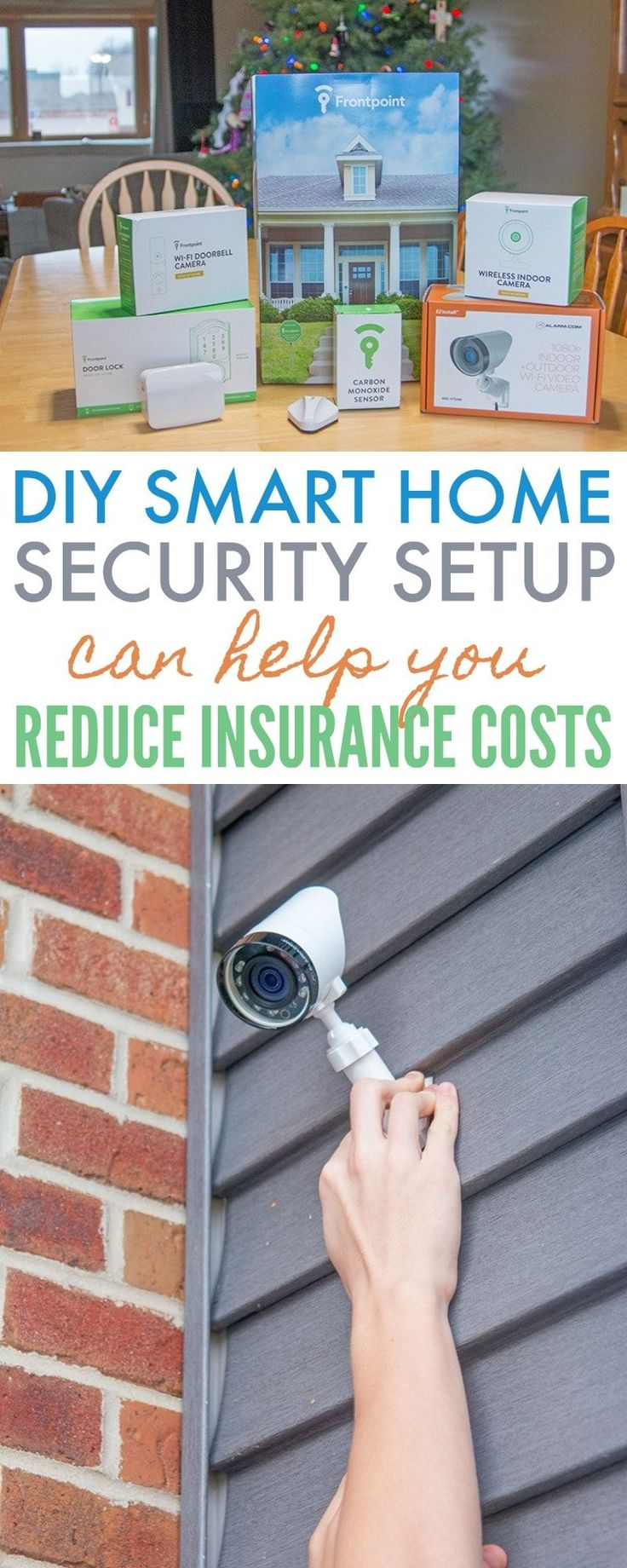 Frontpoint Security Setup - Protect Your Home with American Family Insurance and a smart home security system. Peace of mind and discounts on insurance! DIY setup. #smarthome #homesecurity #technology #dreamfearlessly