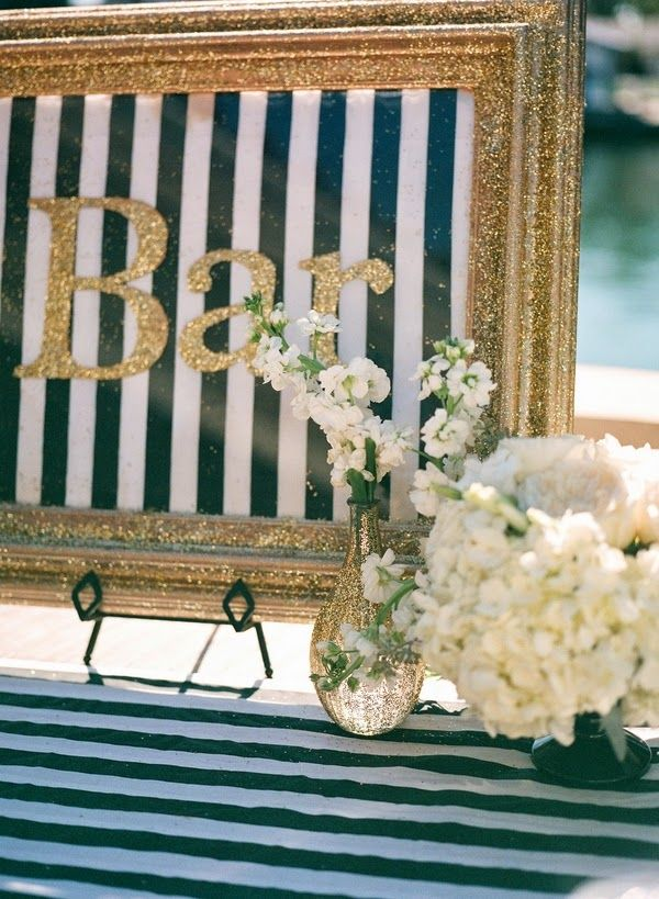 Green, gold, & black modern-rustic baby shower {The Frosted Petticoat}