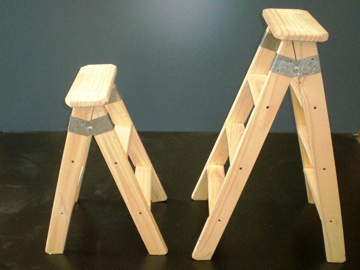 Las 25 mejores ideas sobre escaleras plegables en - Taburete escalera madera ...