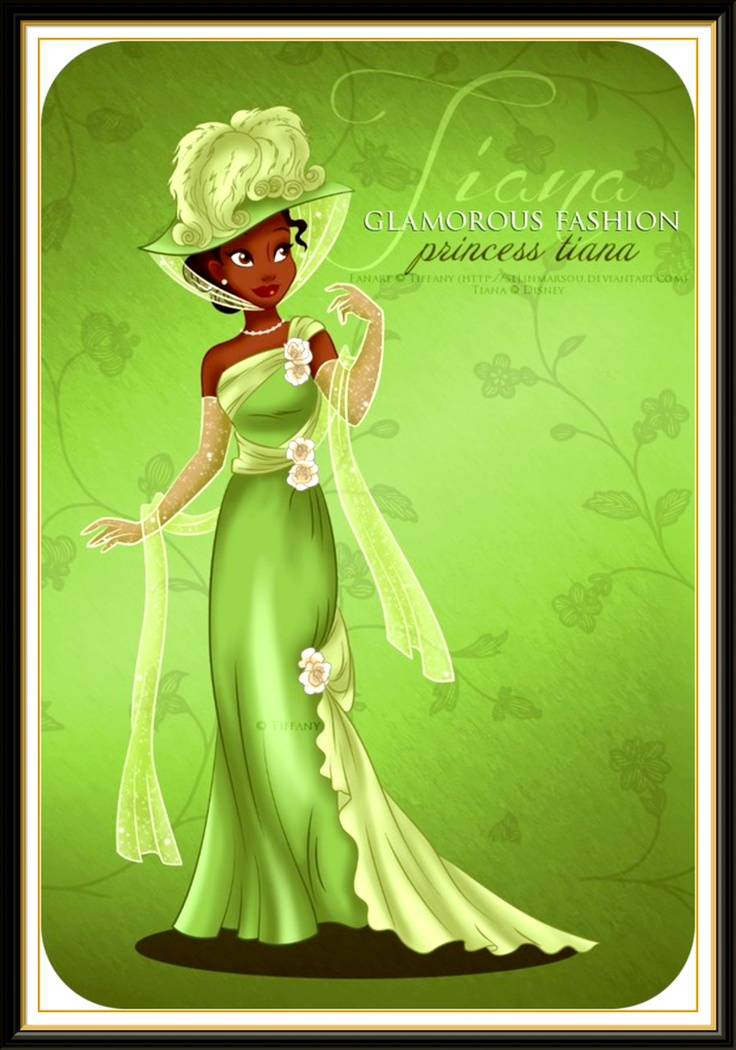 It is a graphic of Invaluable Picture of Tiana