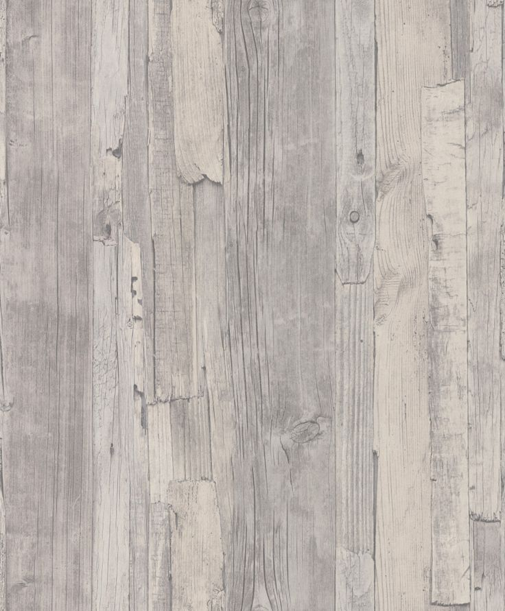 Distressed Wood Grey Grey wallpaper by Albany