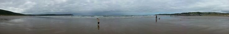 Panorama of Woolacombe beach