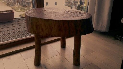 Cute little table ... Made from wood found in the forrest