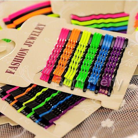 $1.05 1Set Waved Hair Clip Colorful Side Clip (Random Color) - BornPrettyStore.com