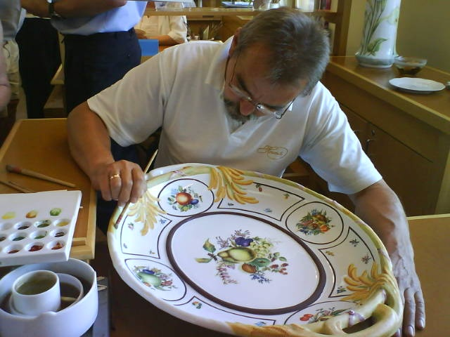 Herend Porcelain worker