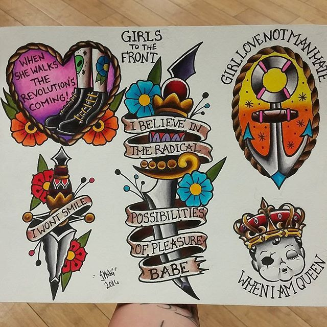 "Last page of my ""Girls To The Front"" flash set. @infamousinktattoo…"