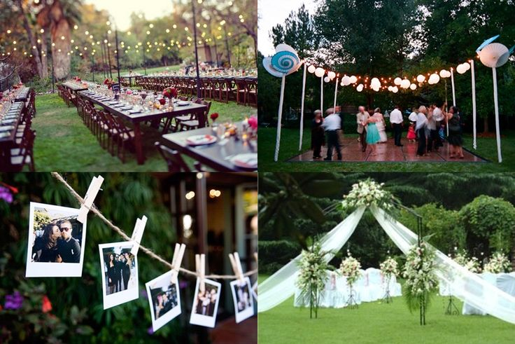 Camo wedding decoration ideas art deco wedding ideas for Backyard engagement party decoration ideas