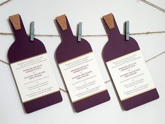 Wine Bottle Invitations  Custom Wine Bottle by courtlyniverson