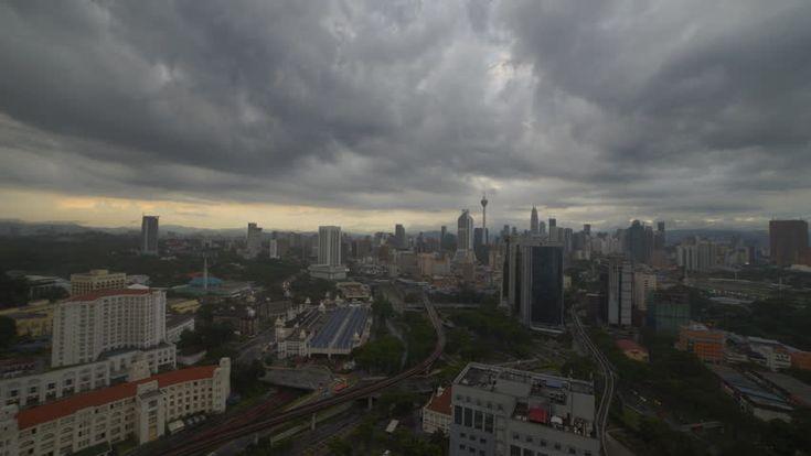 Timelapse Hd Footage Of A Beautiful Sunset Of Kuala Lumpur