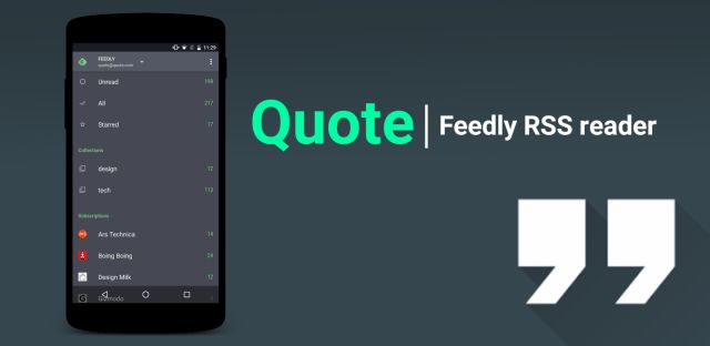Quote | Feedly RRS Reader v0.9 [Unlocked]