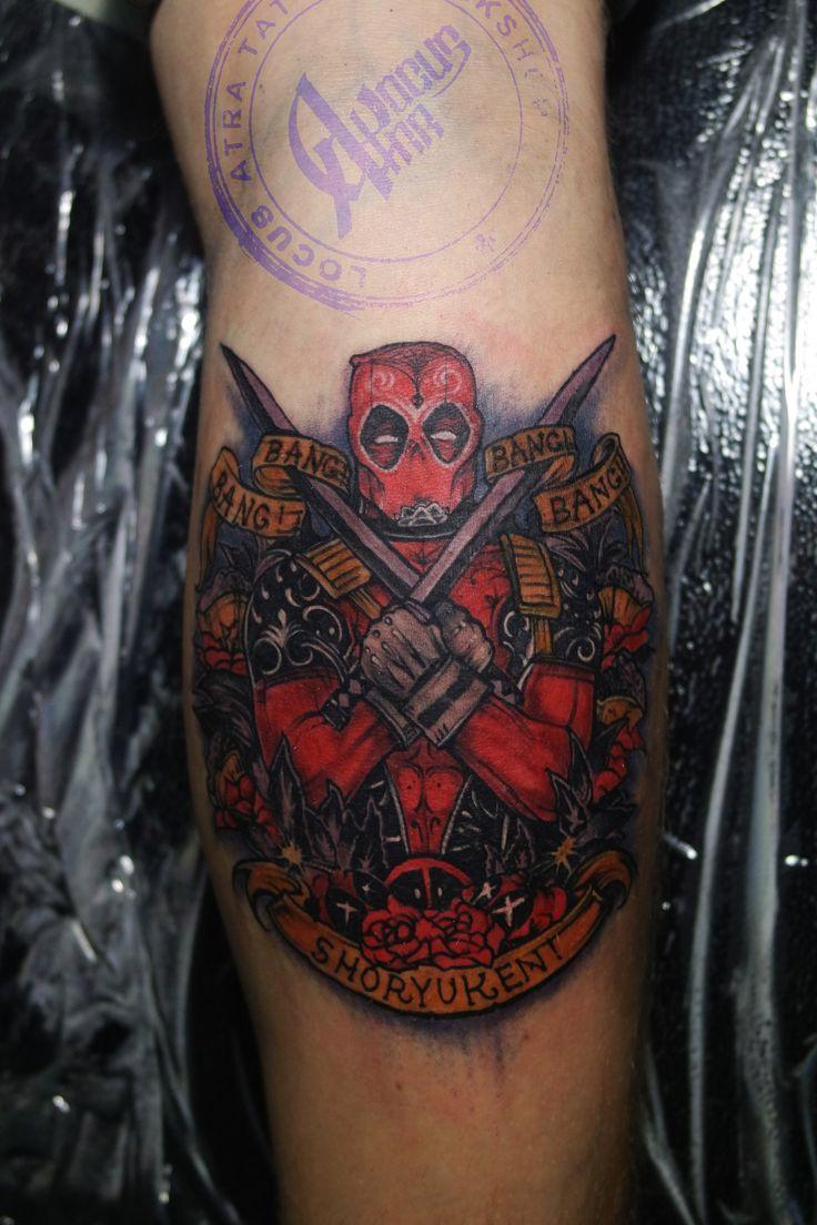 Тату_Locus Atra _татуировка_в Самаре L.A.W. dead pool tattoo art russian style