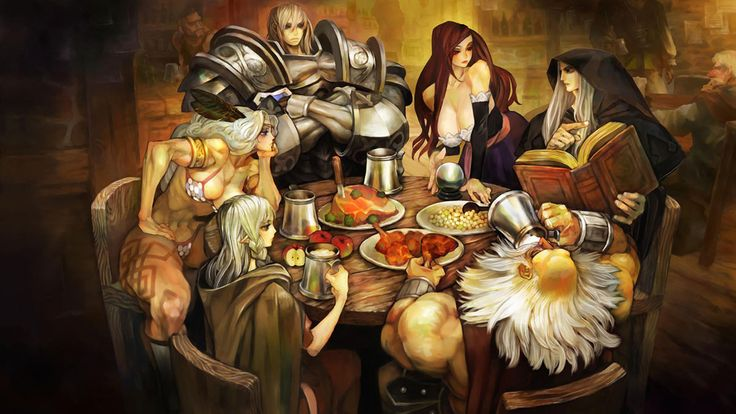 Dragon's Crown, art by George Kamitani.