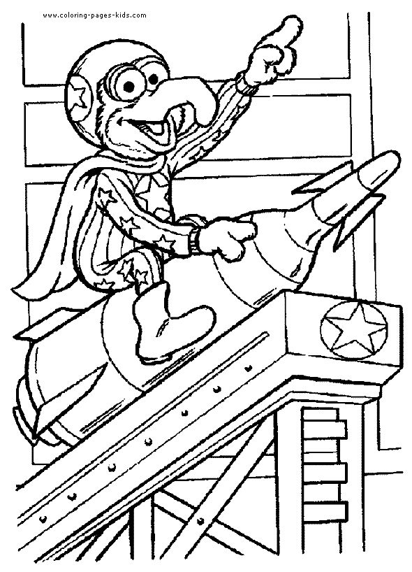 gonzo the muppet show cartoon characters coloring pages color plate coloring sheetprintable